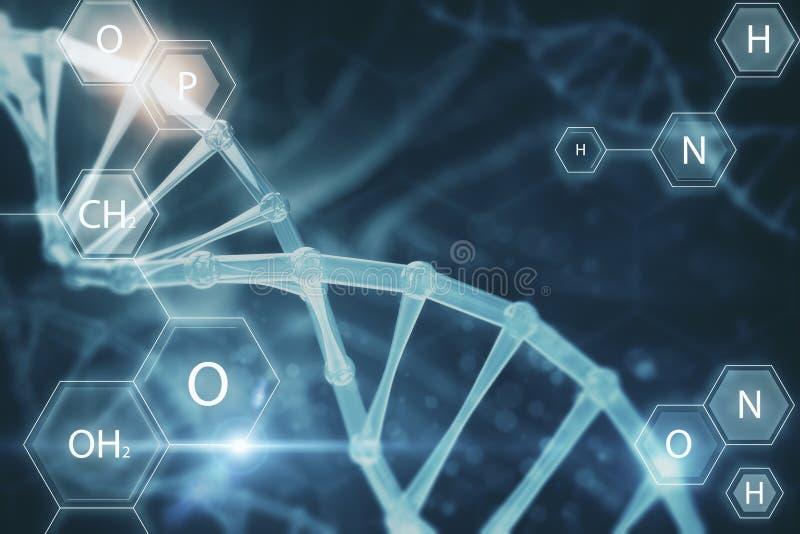 Onscherp medisch DNA-behang stock illustratie