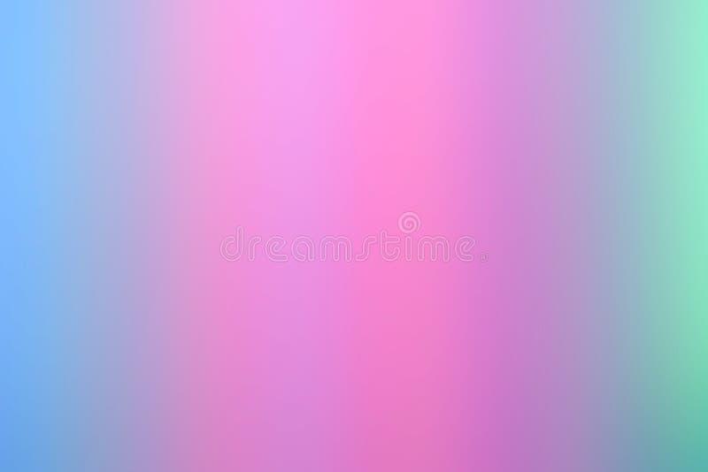 Onscherpe abstracte gradiëntachtergronden De vlotte Achtergrond van de Pastelkleur Abstracte Gradiënt met roze en blauwe kleuren royalty-vrije illustratie