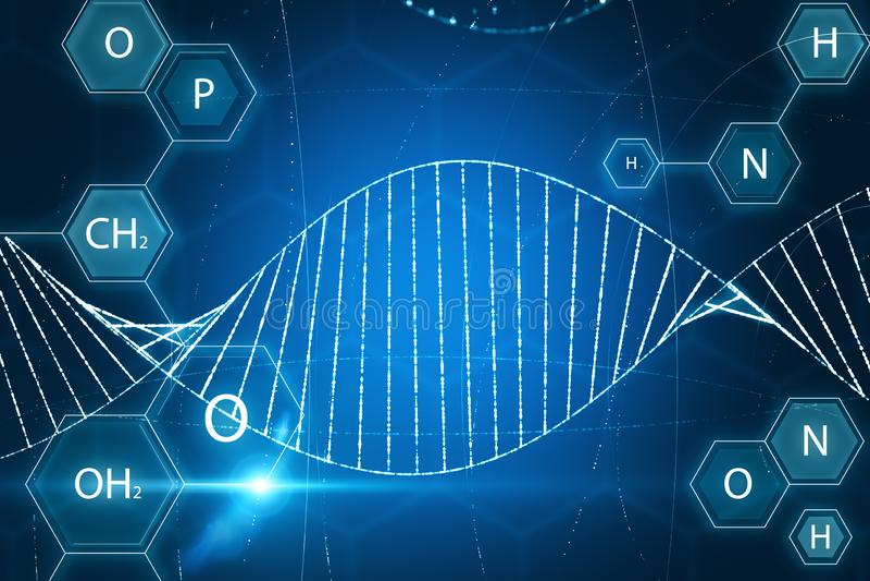 Onscherpe medische DNA-achtergrond vector illustratie