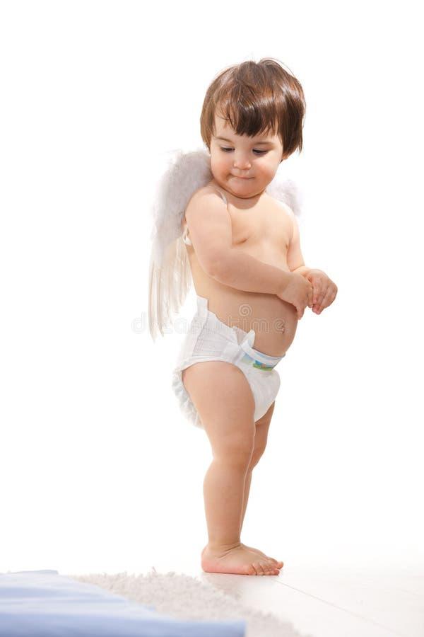 Onschuldig weinig engel royalty-vrije stock foto