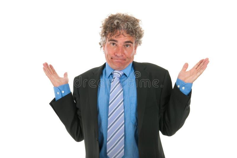 Onschuldige manager stock foto