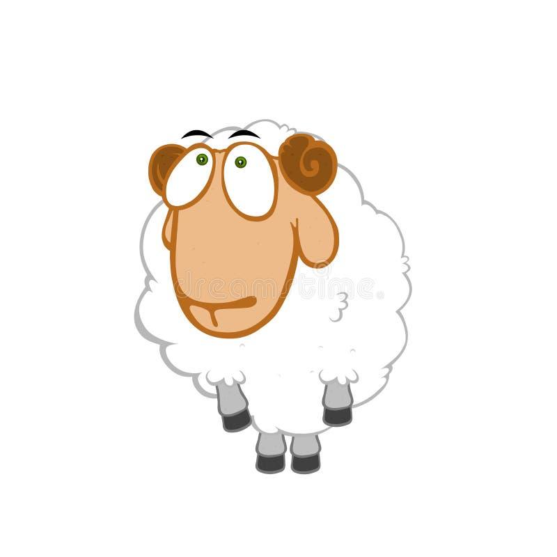 onschuldige schapen stock illustratie