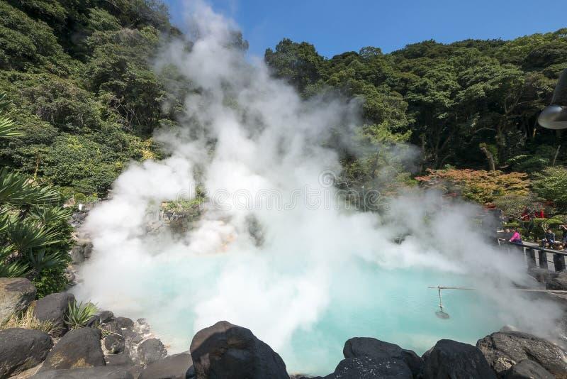 Onsen em Beppu, Oita, Japão imagem de stock