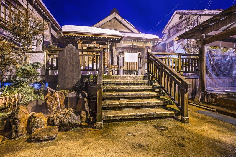 Onsen. Nagano, Japan at the hot spring bath houses of Shibu Onsen resort town stock images