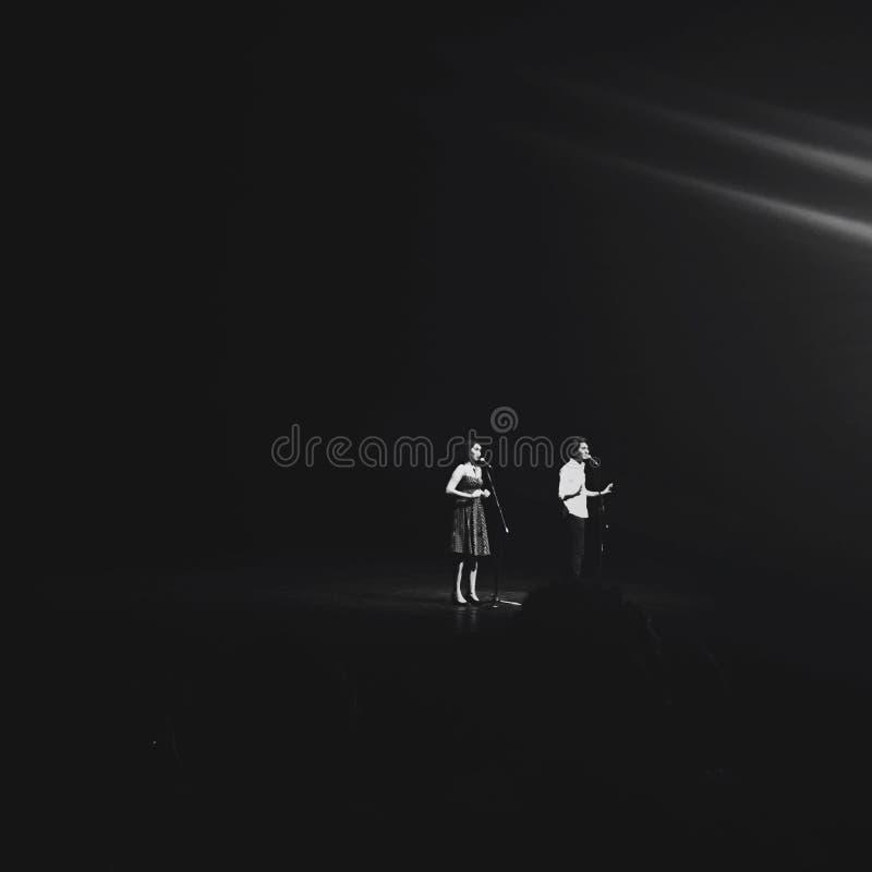 onstage fotografia stock