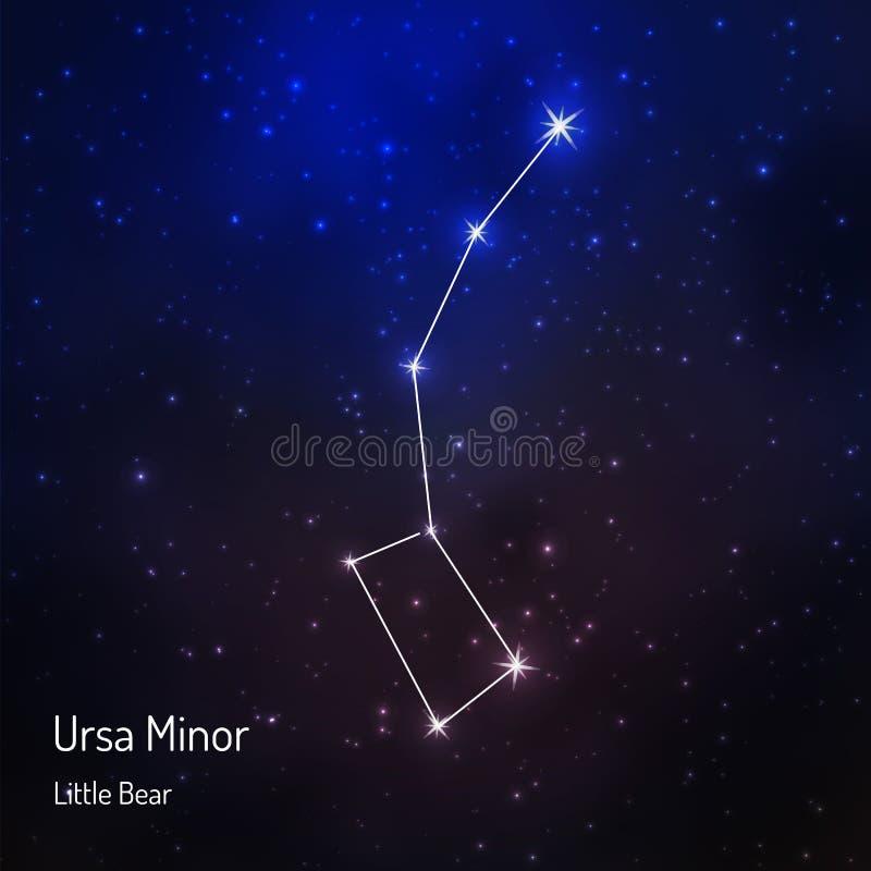 onstellation i den stjärnklara himlen för natt vektor illustrationer