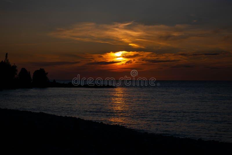 Ontário, por do sol foto de stock royalty free