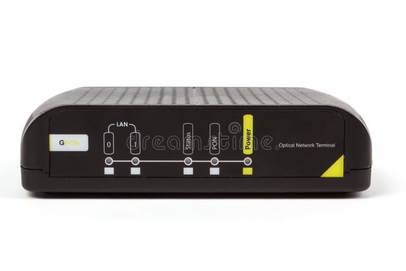 ONT - optical network terminal. Passive Optical network, ONT end user optical network terminal royalty free stock photo