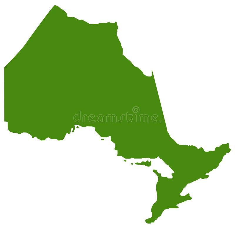 Ontario översikt - landskap som lokaliseras i öst-centralen Kanada royaltyfri illustrationer
