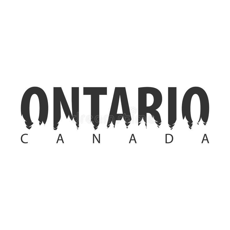 ontario Канада Текст или ярлыки с силуэтом леса бесплатная иллюстрация