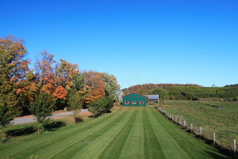 Ontario-Ackerland im Herbst stockfoto
