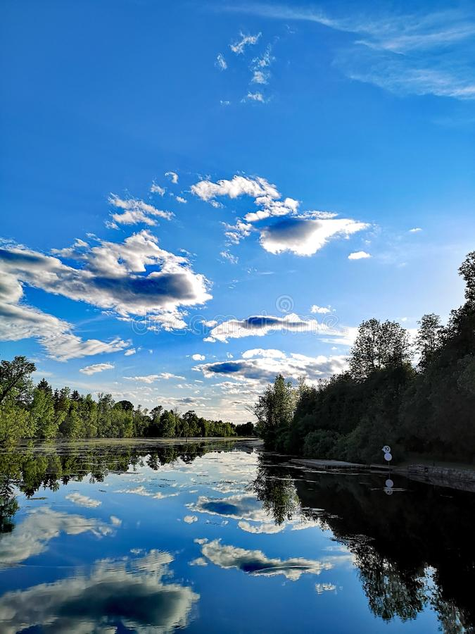 Ontario canal system Rideau river royalty free stock images