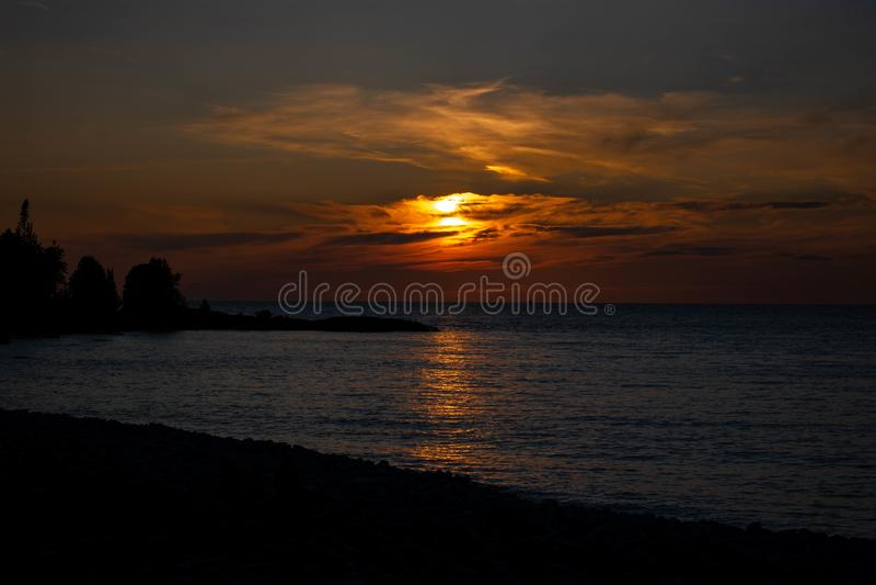 Ontario, coucher du soleil photo libre de droits