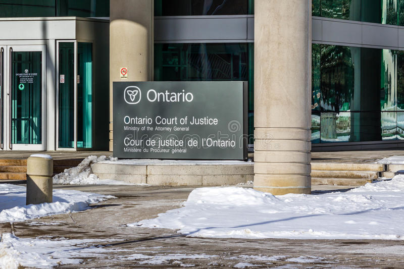 Ontario Court of Justice stock photos