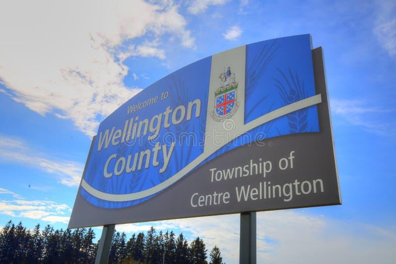 Ontario, entrata di Wellington County fotografia stock