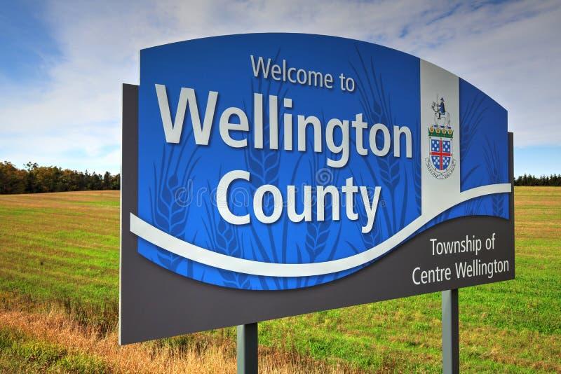 Ontario, entrata di Wellington County immagine stock libera da diritti