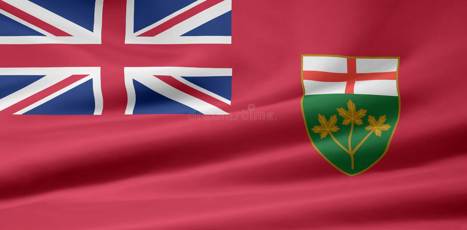 Ontario Flag. Very large version of an Ontario flag vector illustration