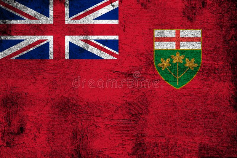 Ontario. Grunge and dirty flag illustration. Perfect for background or texture purposes vector illustration