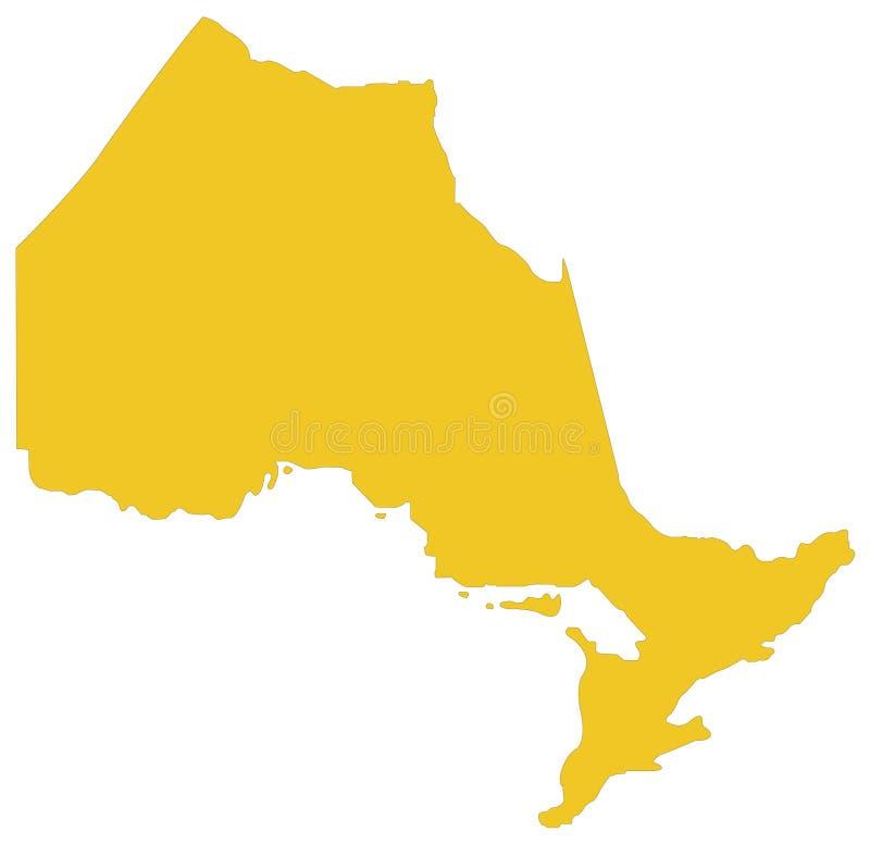 Ontario-Karte - Provinz gelegen in Osten-zentralem Kanada stock abbildung