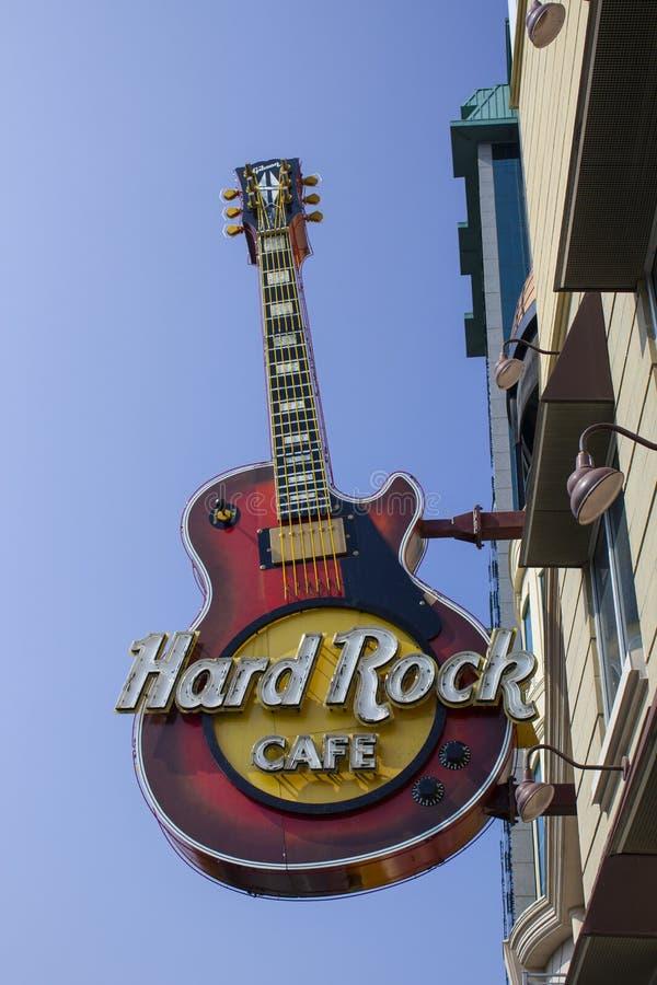 Ontario, Toronto, Canada Giugno 2010, fine di Hard Rock Cafe su del segno immagini stock
