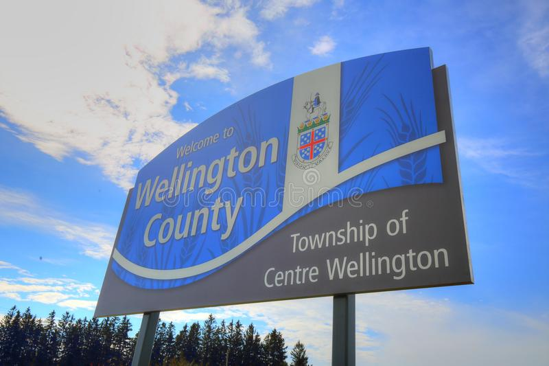 Ontario, Wellington County entrance stock photo