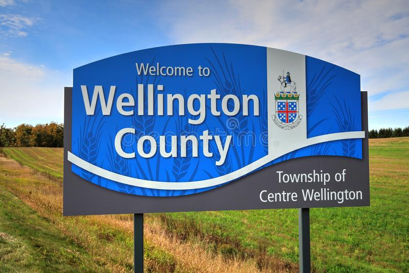 Ontario, Wellington okręgu administracyjnego wejście zdjęcia royalty free