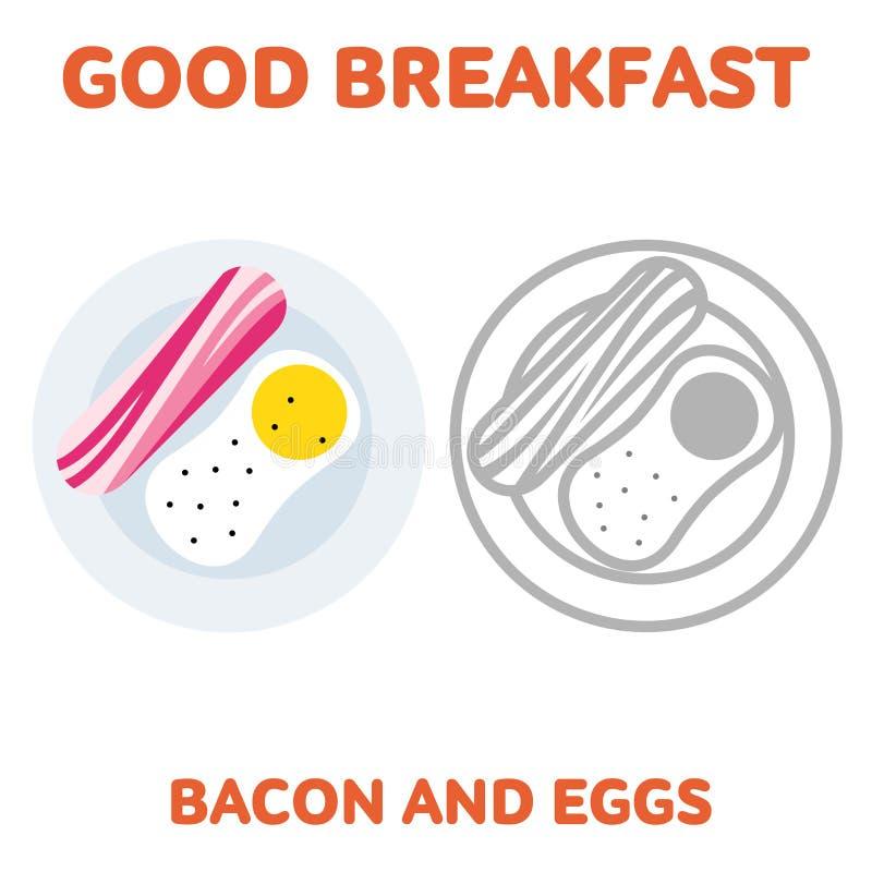 ontbijt 1205 elementen 03 stock illustratie