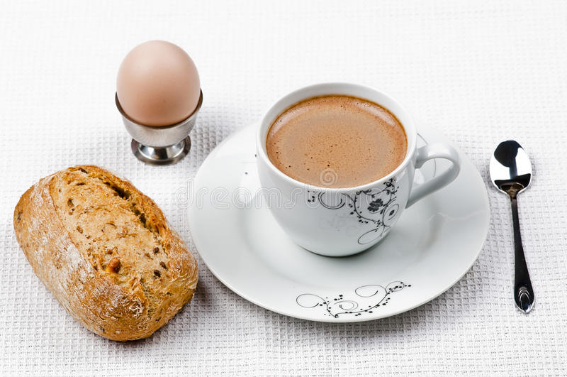 Ontbijt en koffie stock fotografie