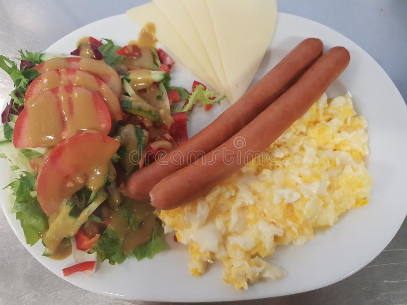 Ontbijt en salade royalty-vrije stock fotografie