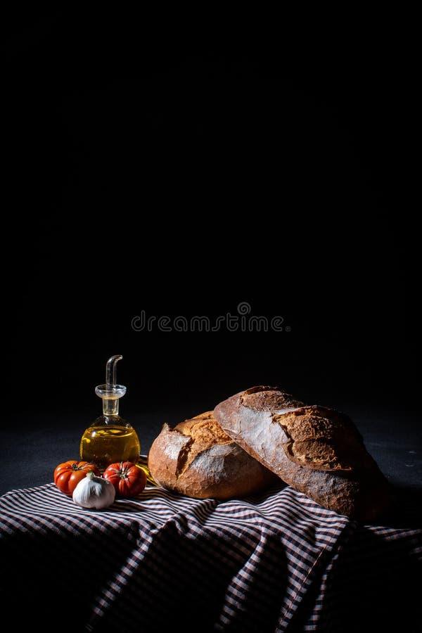 ontbijt Mediterraan dieet royalty-vrije stock foto