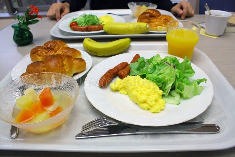 Ontbijt met divers voedsel stock afbeeldingen