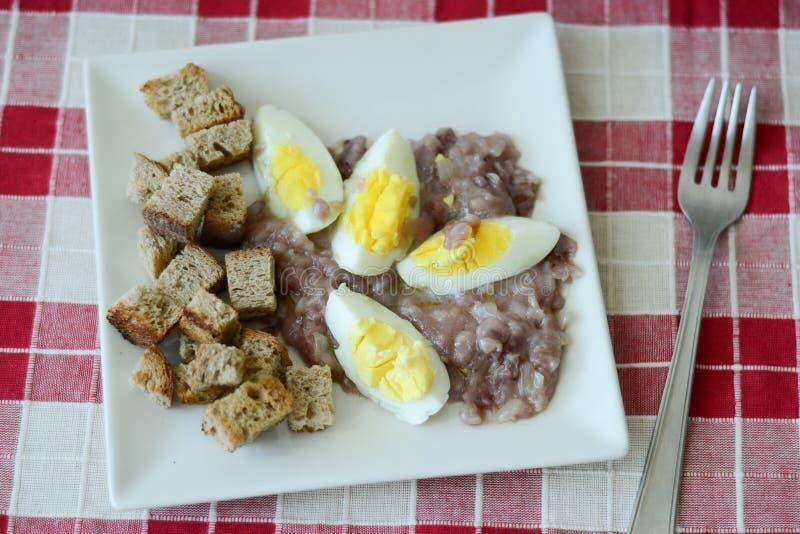 Ontbijt met eieren royalty-vrije stock foto's