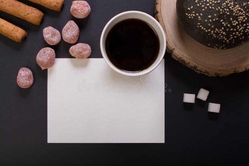 Ontbijt met kop van koffie royalty-vrije stock afbeelding
