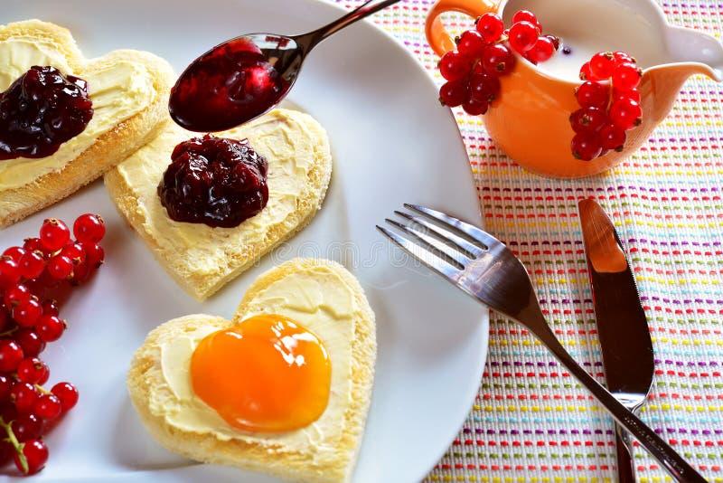 Ontbijt met liefde stock foto