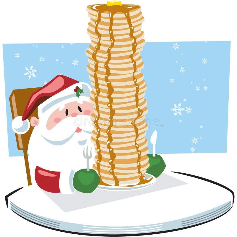 Ontbijt met Santa Claus vector illustratie