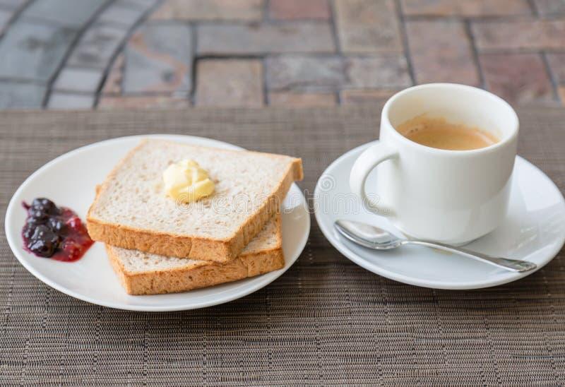 Ontbijt met Toost royalty-vrije stock afbeeldingen