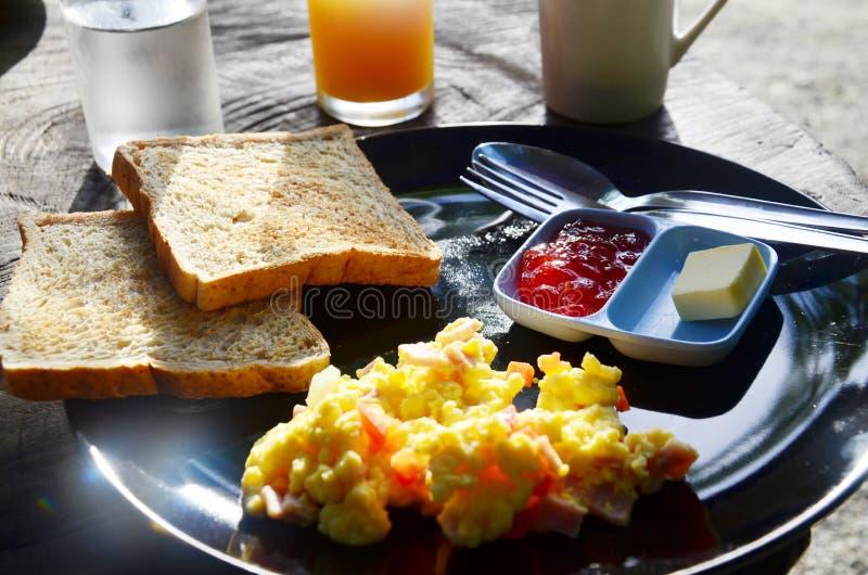 Ontbijt in Ochtend bij nga Thailand van Toevluchtphang royalty-vrije stock afbeelding