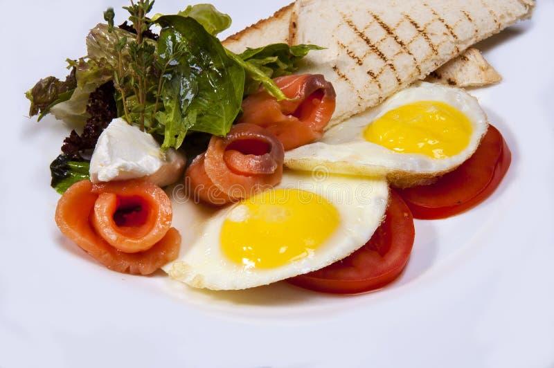Ontbijt van bacon en eieren royalty-vrije stock foto's