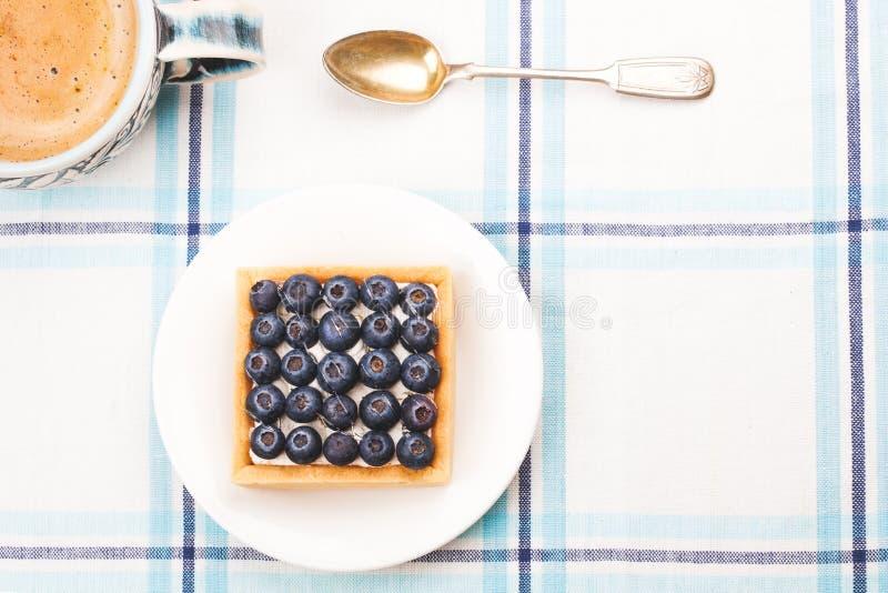 Ontbijt van Cake en koffie royalty-vrije stock foto's