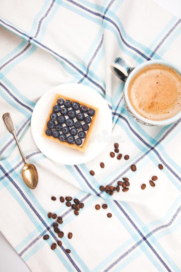 Ontbijt van Cake en koffie royalty-vrije stock afbeelding
