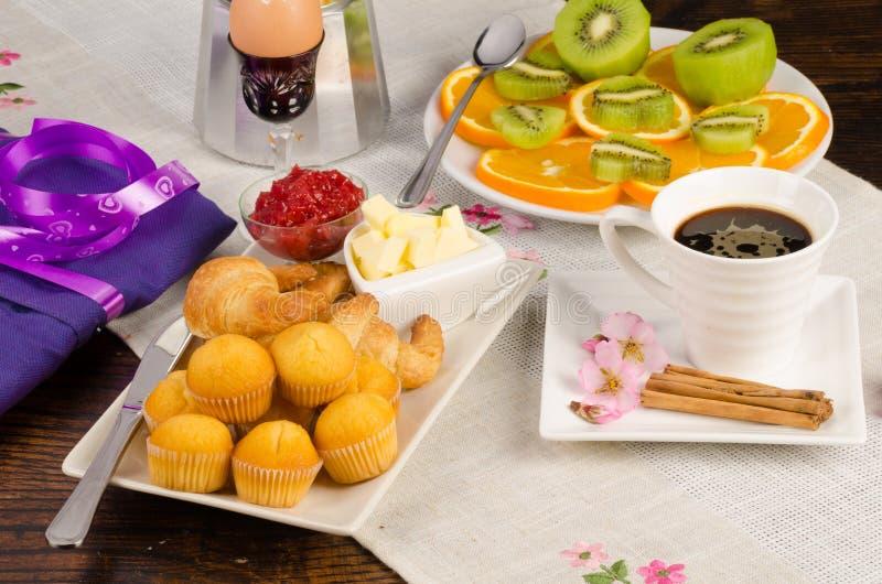 Ontbijt van vakantie royalty-vrije stock afbeelding