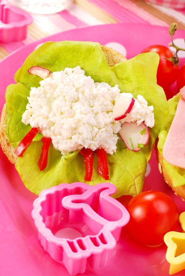 Ontbijt voor kind stock foto's