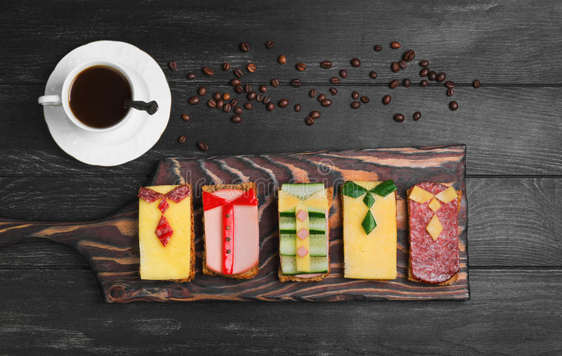 Ontbijt voor mensen stock afbeelding