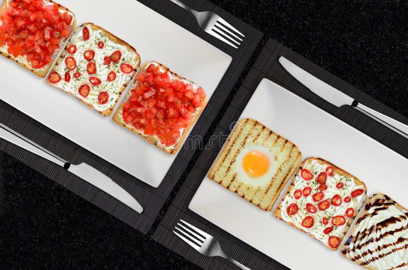 Ontbijt voor twee stock afbeeldingen
