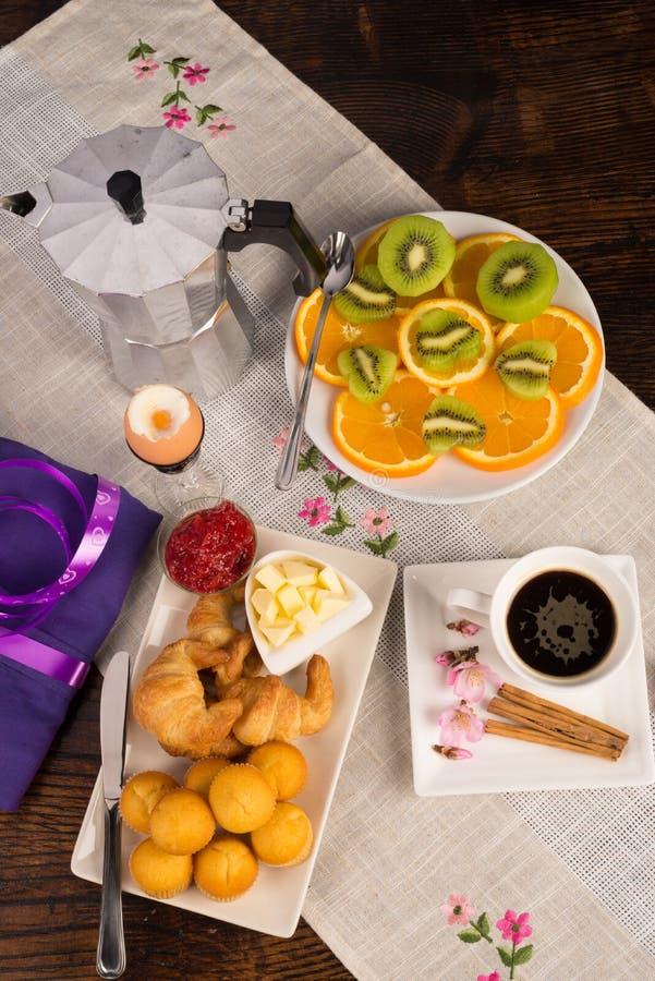Ontbijtstilleven royalty-vrije stock fotografie