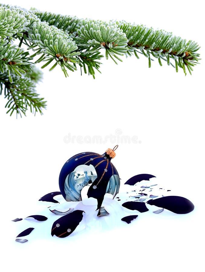 Ontbroken Kerstmis royalty-vrije stock afbeelding