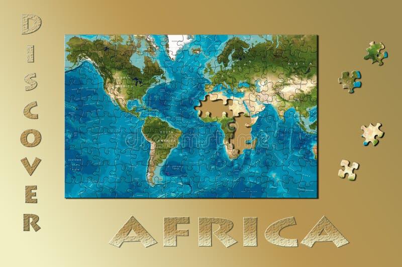 Ontdek Afrika royalty-vrije stock fotografie