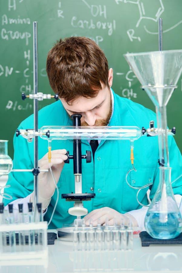 Ontdekkingen in wetenschap stock foto's