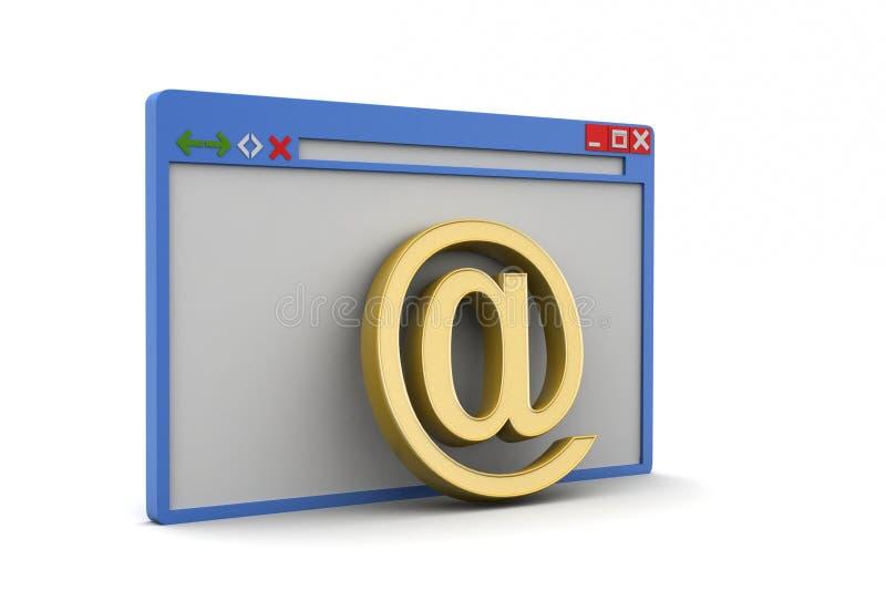Ontdekkingsreizigerpagina met e - postteken royalty-vrije illustratie
