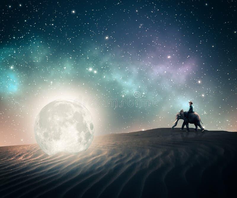 Ontdekt een maan royalty-vrije stock afbeelding